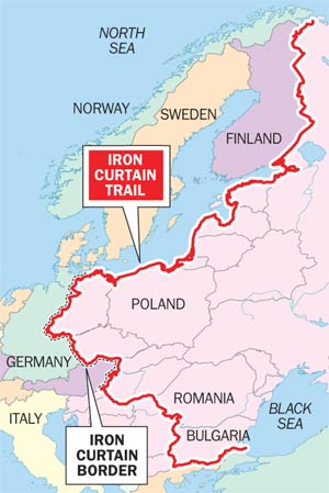 Iron Curtain Map Iron Curtain Map